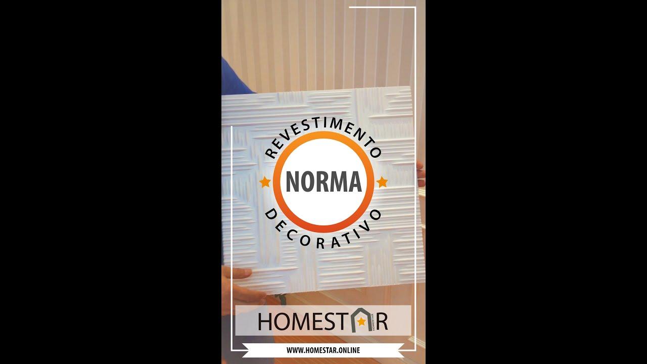 Painéis Revestimento Decorativo para Parede HOMESTAR NORMA em poliestireno