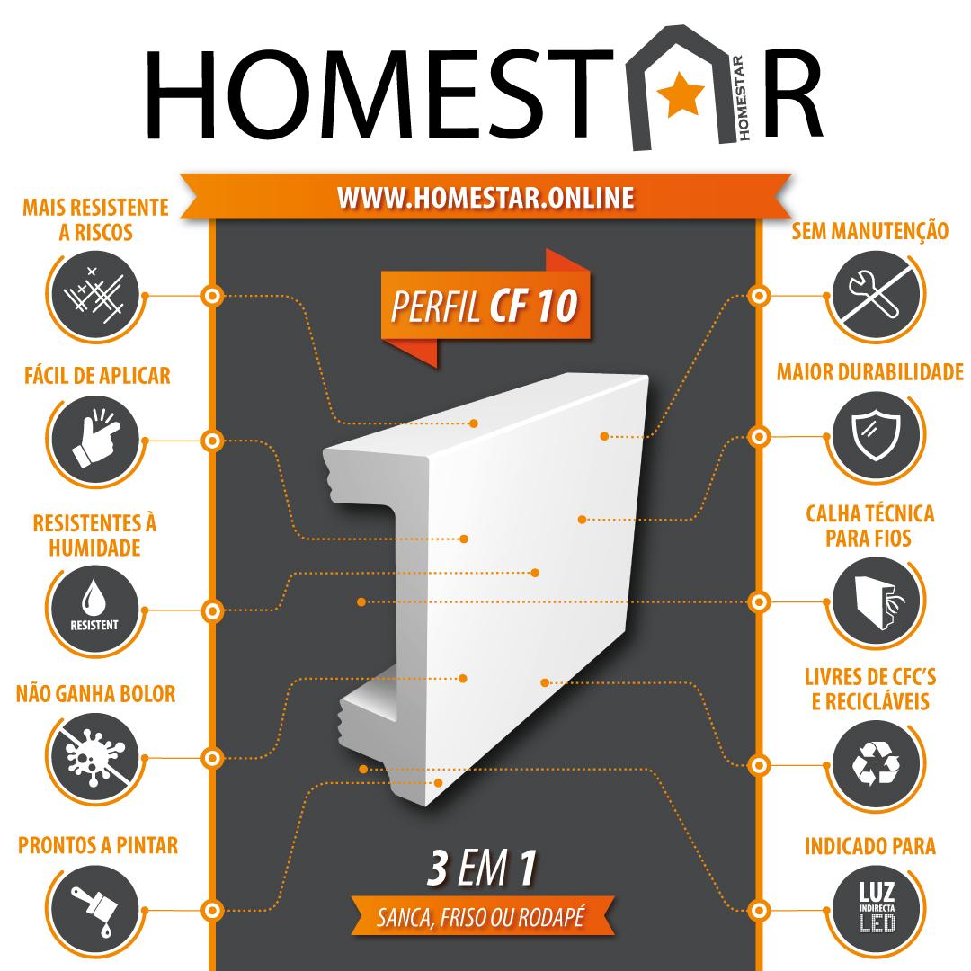 sanca friso rodape led CF10 Homestar