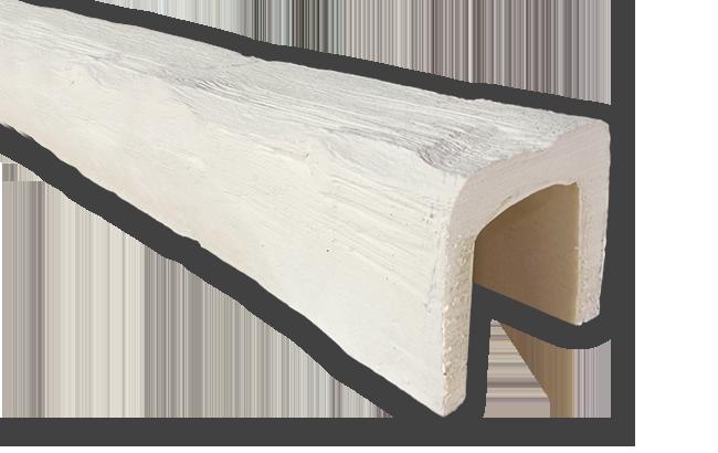 viga imitacao madeira falsa branca poliuretano 12x12