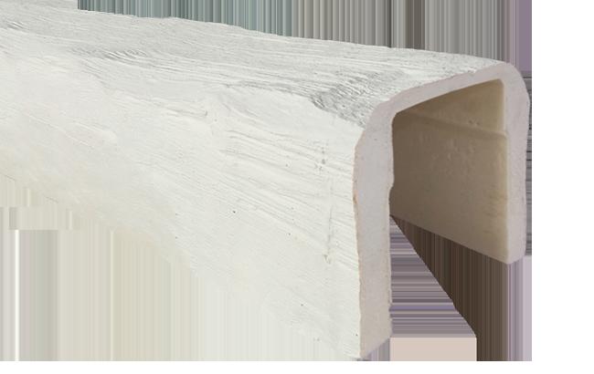 viga imitacao madeira falsa branca poliuretano 19x17
