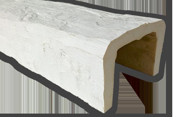 viga imitacao madeira falsa branca poliuretano 20x13