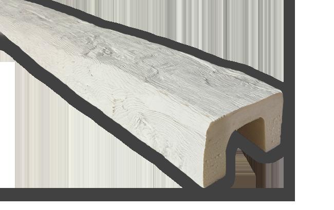 viga imitacao madeira falsa branca poliuretano 9x6