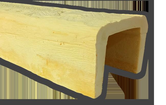 viga imitacao madeira falsa incolor poliuretano 20x13