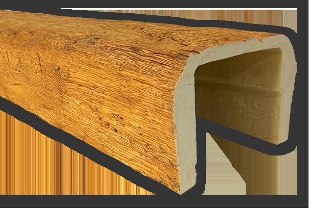 viga imitacao madeira falsa moderna poliuretano 20x13
