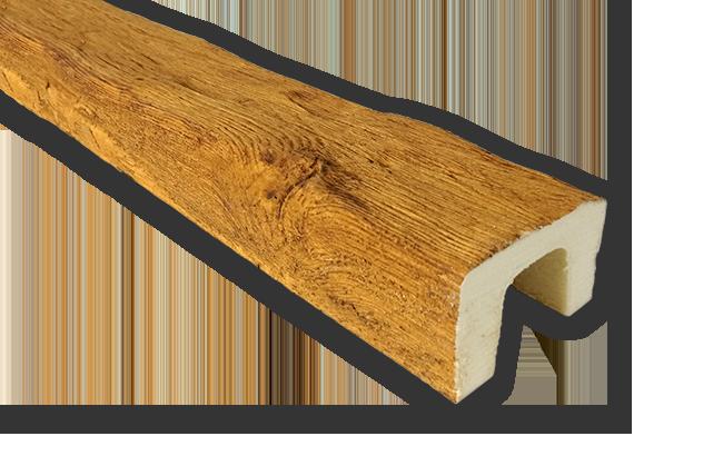 viga imitacao madeira falsa moderna poliuretano 9x6