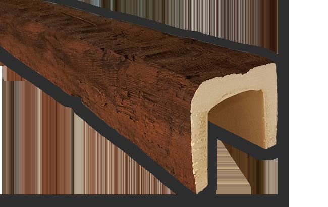 viga imitacao madeira falsa rustica poliuretano 12x12
