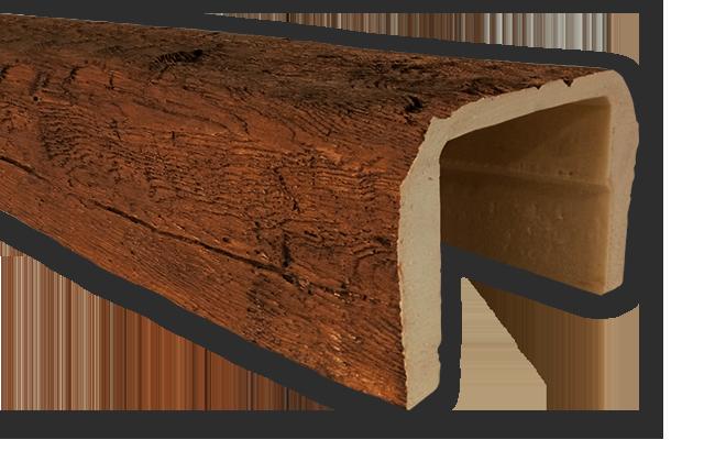 viga imitacao madeira falsa rustica poliuretano 20x13