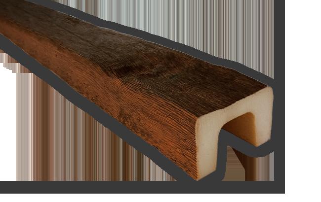 viga imitacao madeira falsa rustica poliuretano 9x6